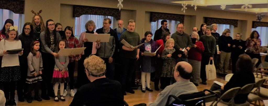 Sunncrest Volunteers singing